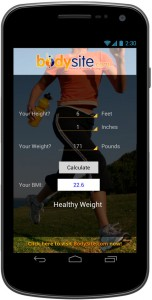 Android app developed for bodysite