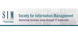 Society for Information Management logo.