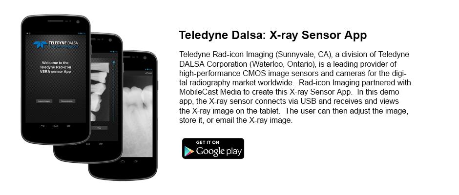 Teledyne DALSA: X-ray sensor App